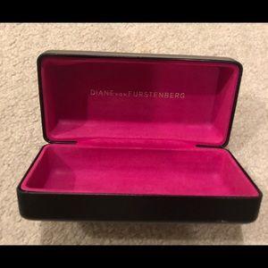 Diane von Furstenberg DVF black glasses case